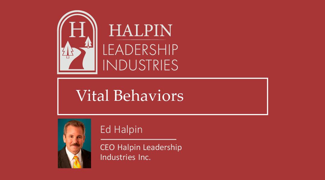 Part 3: Vital Behaviors